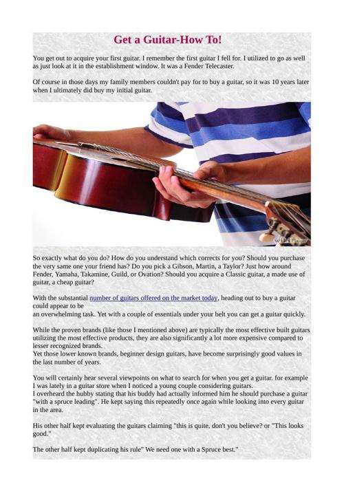 Get a Guitar-How To