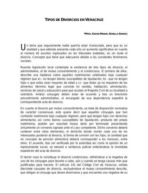 -Tipos de Divorcios en Veracruz-