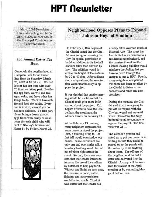 HPT Newsletter March 2002