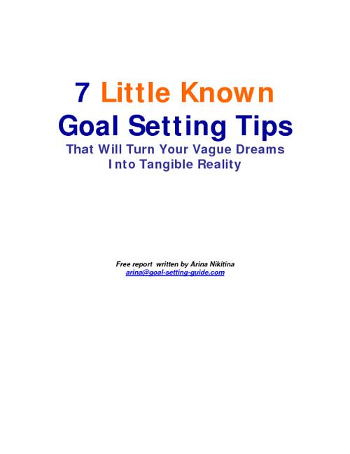 7 Goals
