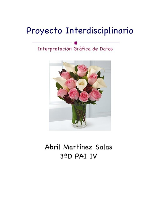 Proyecto interdisciplinario Abril