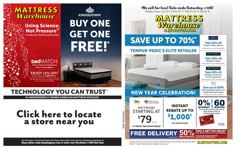 Mattress Warehouse New Year Sale