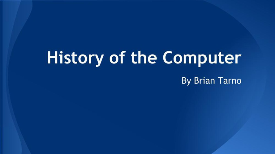 a history of computers
