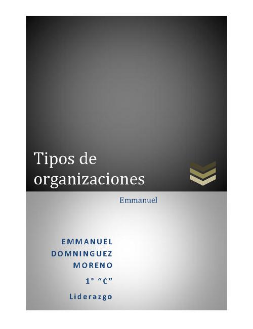 Tipos de organizaciones