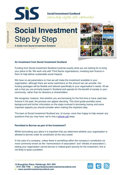 Social Investment - Step by Step