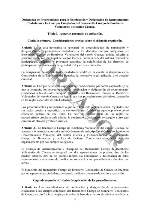 Proyecto ORDENANZA REPRESENTANTES CIUDADANOS BCBVC