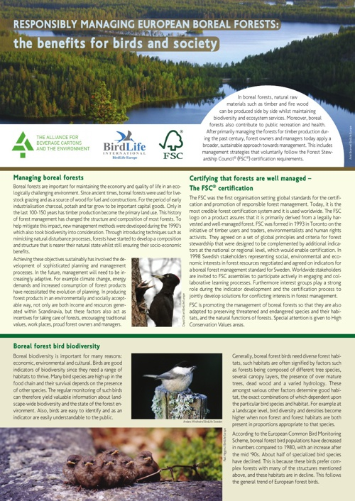 Responsibly managing European Boreal Forests
