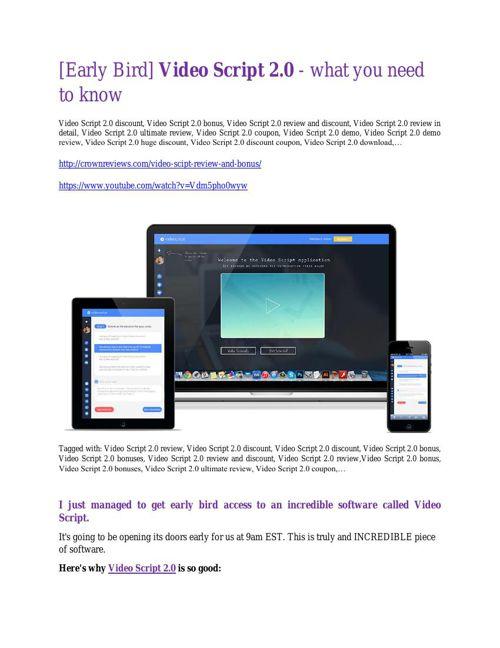 VideoScript 2.0  review - VideoScript 2.0 top notch features