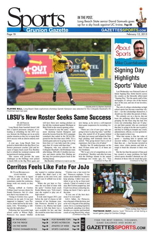 Gazette Sports | February 12, 2015