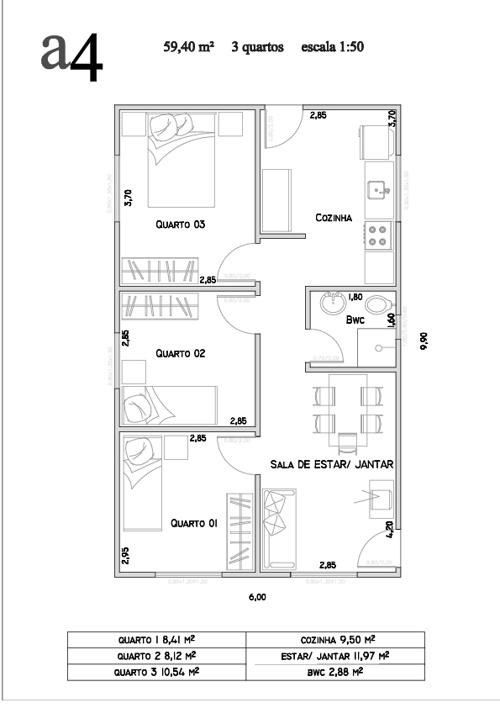 Modelos de projetos através da Secretaria da Habitação