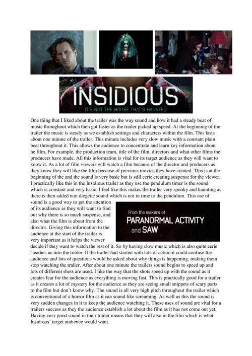 Insidious trailer