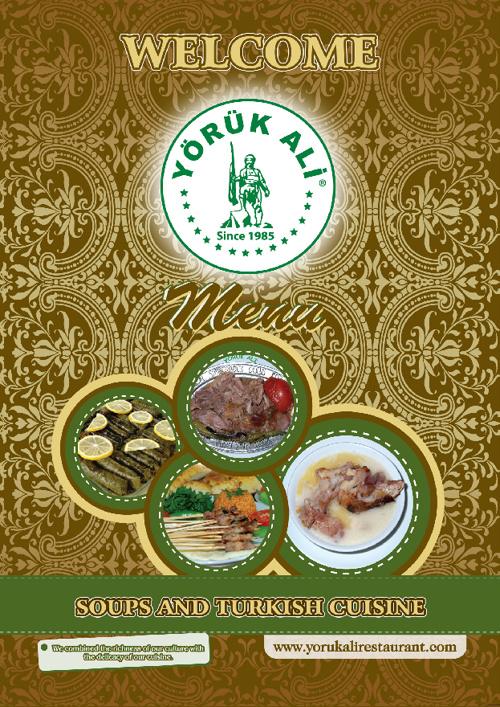 Yoruk Ali İngilizce Menü