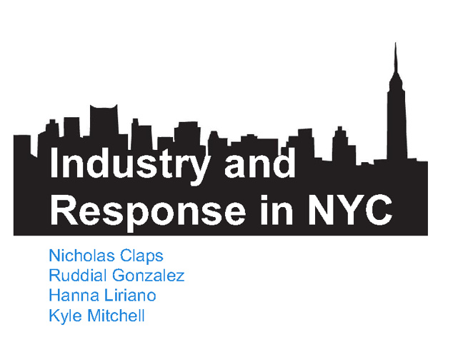 New York Industry through History, Helprin, and Whitman