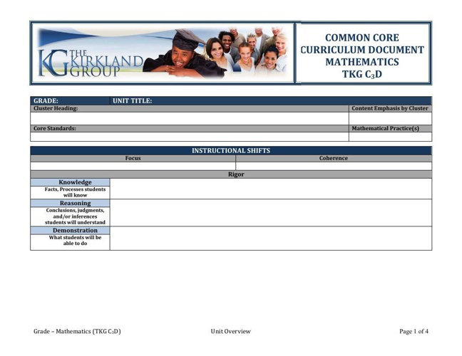 TKG C3D Math Revised Template