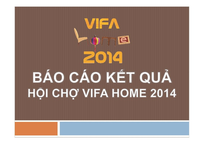 BAO CAO TONG KET VIFA HOME 2014