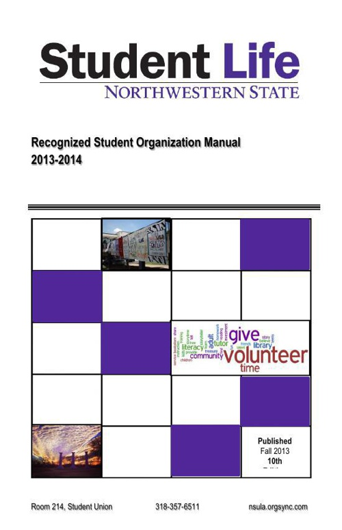 2013-2014Recognized Student Manual
