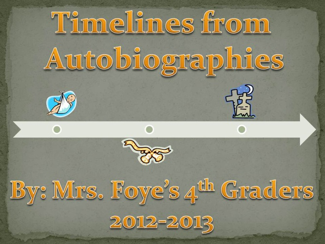 Mrs. Foye's Class' Timelines from Autobiographies