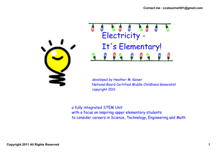 Electricity - It's Elementary