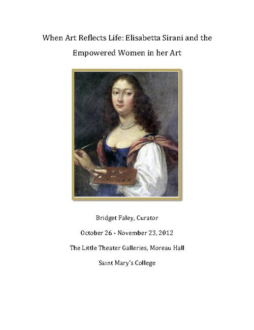 When Art Reflects Life: Elisabetta Sirani & the Women in her Art