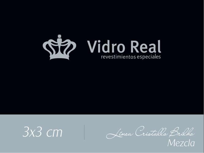 Cristallo Brilho Mezcla 3x3 cm.