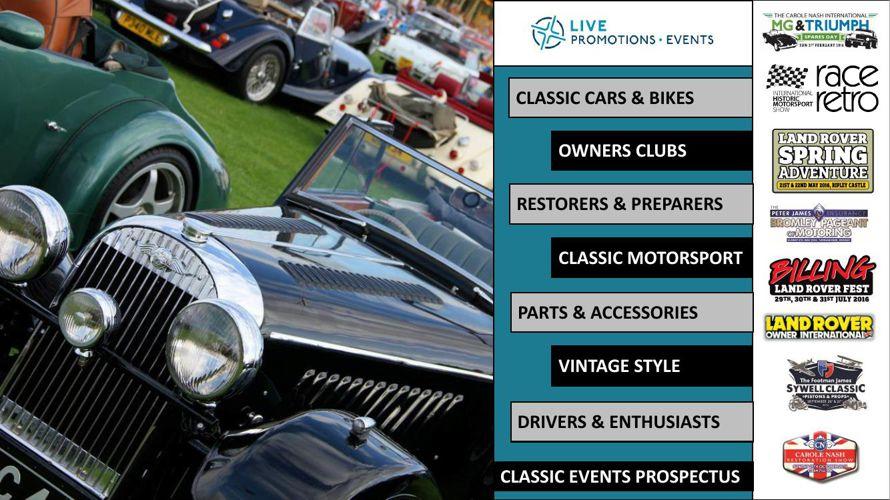 2016 Classic Events Prospectus