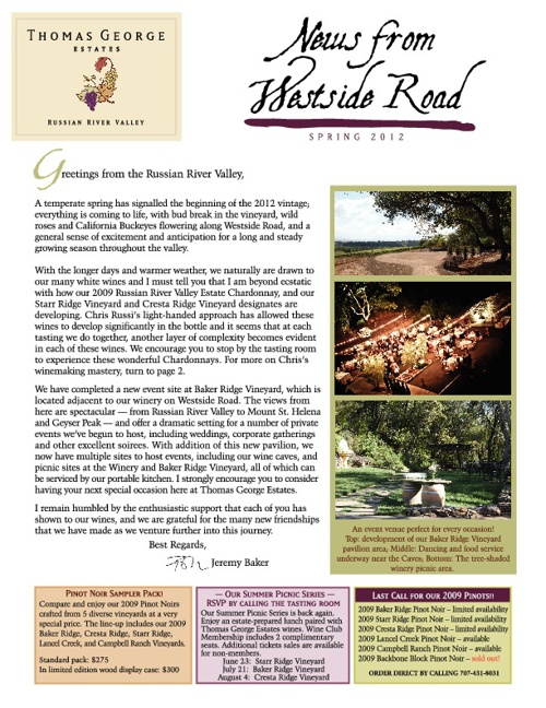 Thomas George Estates Newsletter