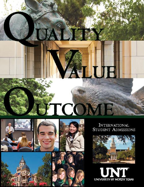 UNT International Student Viewbook