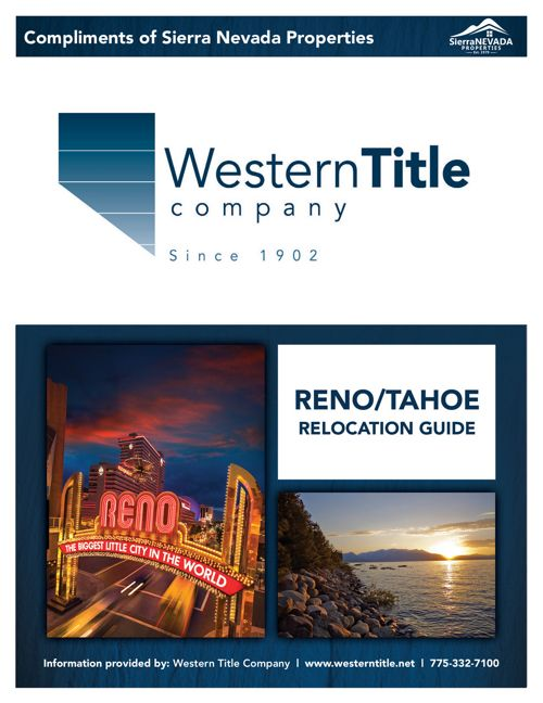 Reno/Tahoe Relocation Guide