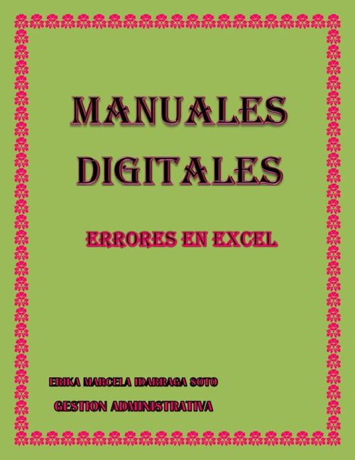 CARTILLA ERRORES DE EXCEL