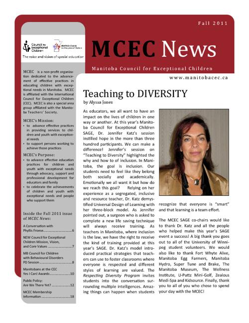 MCEC News Fall 2011