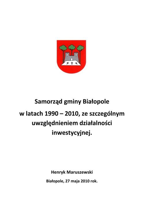 20-lecie Samorządu Gminy Białopole