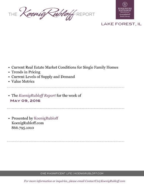 Koenig Rubloff Lake Forest IL Real Estate Conditions