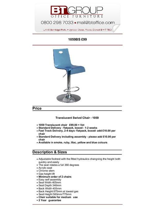 Bistro Furniture & Seating (51-100)