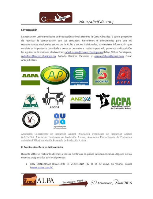 Carta Aérea_ALPA_No 2 abril de 2014