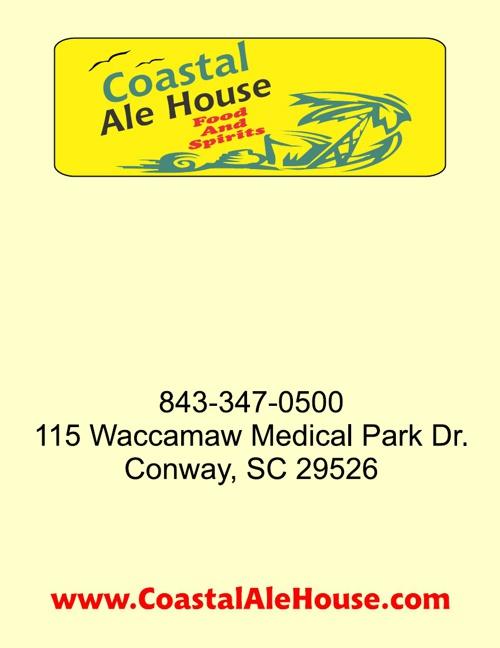 Coastal Ale House Menu