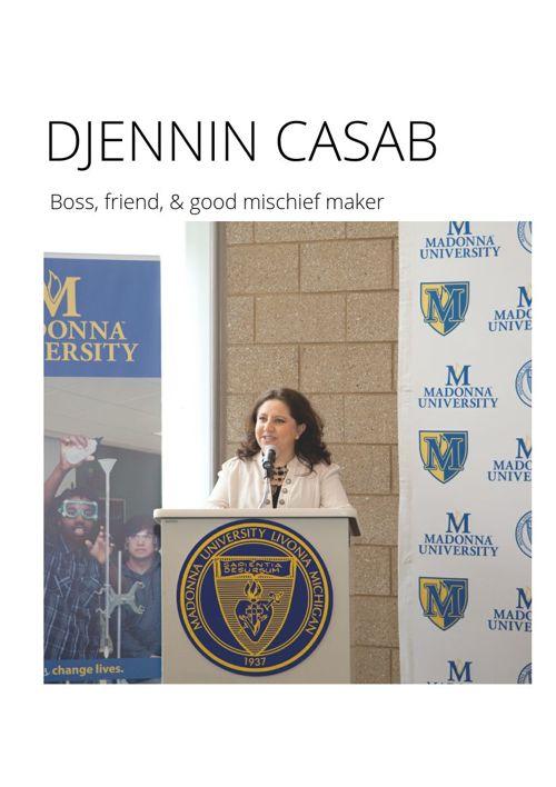 Djennin Casab: Boss, Friend, and Good Mischief Maker