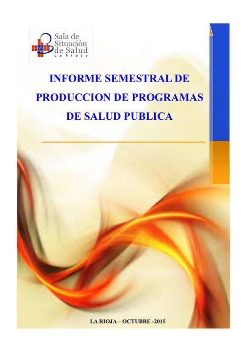 Informe Semestral de Programas_SDSS OCTUBRE 2015