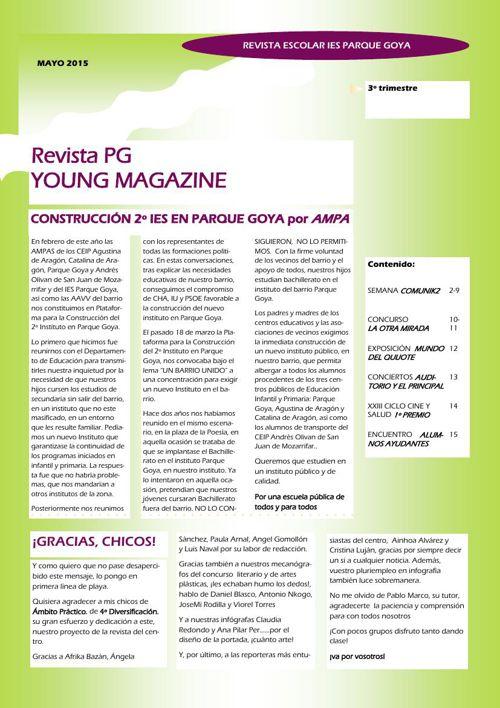 PUBLICACION PG YOUNG MAGAZINE 3º TRIMESTRE 14/15