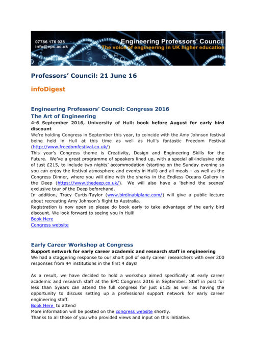 Engineering Professors' Council infoDigest 21 Jun 16