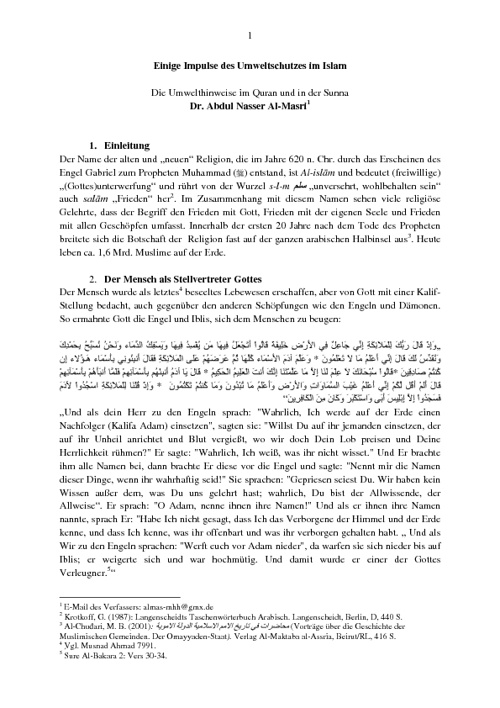 Der Umweltschutz im Islam