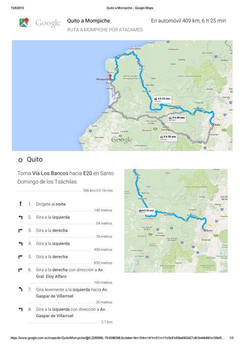 VIA ATACAMES  Google Maps