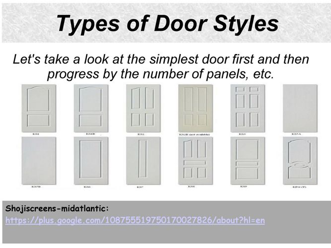Types of Door Styles