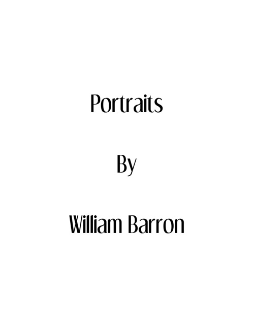Portraits By William Barron