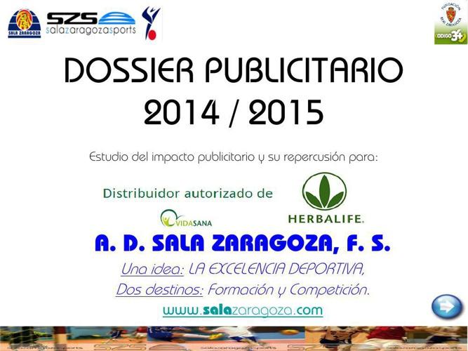 DOSSIER PUBLICITARIO 2014_15 HERBALIFE