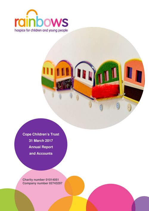 Cope Children's Trust 2017 year end accounts