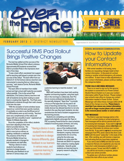 February 2013 District Newsletter