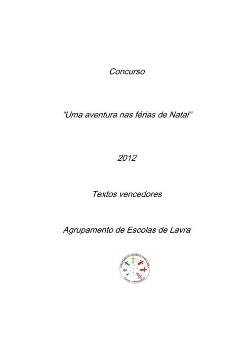 """Concurso """"Uma aventura nas férias de Natal"""" - 2021"""