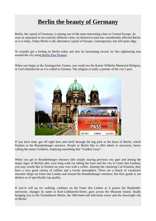 Berlin the beauty of Germany