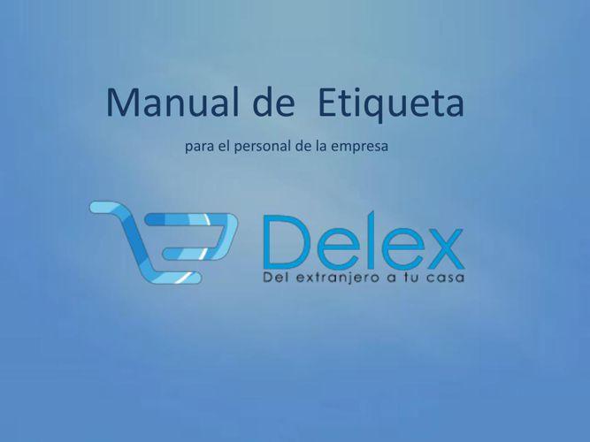 Manual de  Etiqueta Delex