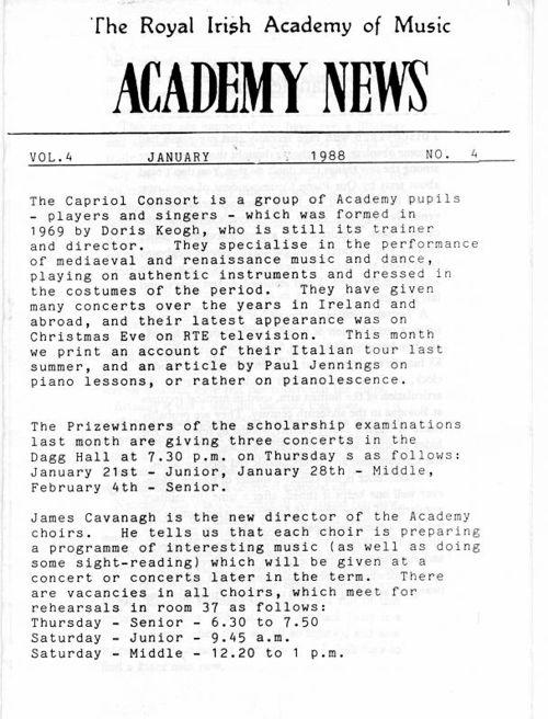 Academy News January 1988